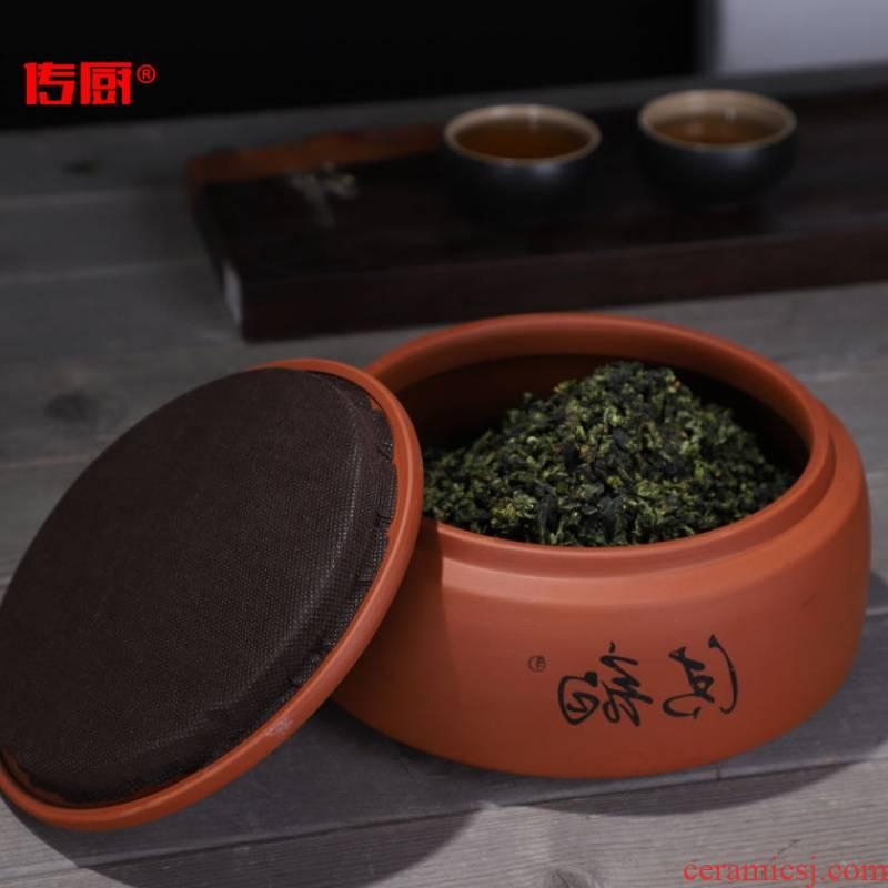 The kitchen violet arenaceous caddy fixings ceramic large storage POTS household seal pot white tea tea cake tea package