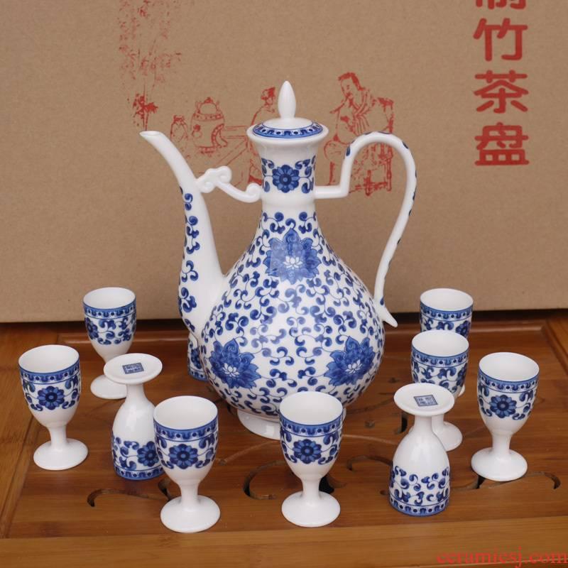 11 head ceramic wine hip goblet suit ipads age jade porcelain porcelain of the elders gifts