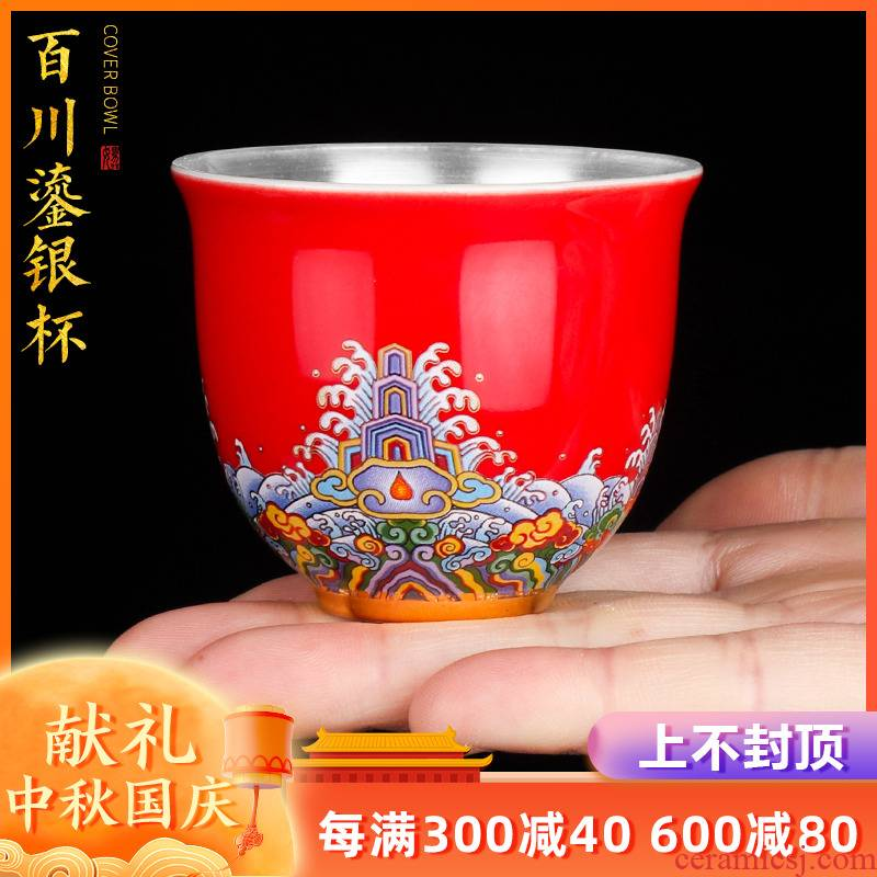 Artisan fairy coppering. As silver cup masters cup a cup of pure checking ceramic household sample tea cup tea cup kung fu tea cups