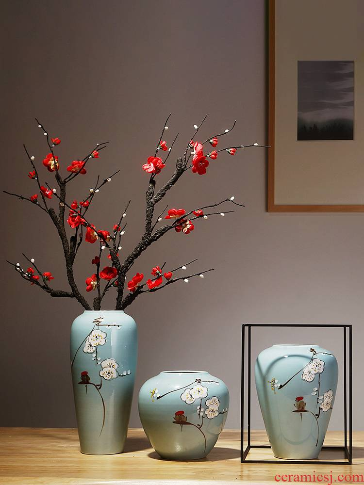 Jingdezhen ceramics simulation dried flower vases, new Chinese style household act the role ofing is tasted, the sitting room porch flower adornment furnishing articles