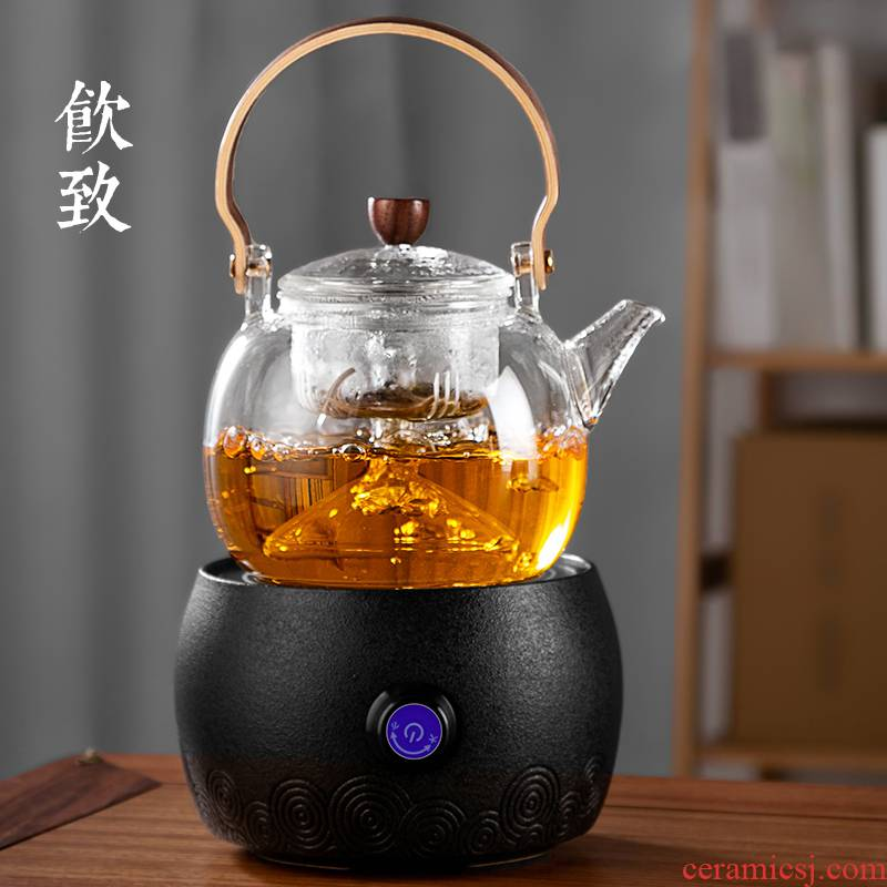 Drinking to a glass kettle boil tea steamer steaming and thickening of large - sized steam suits for pot of boiling water to girder electricity TaoLu