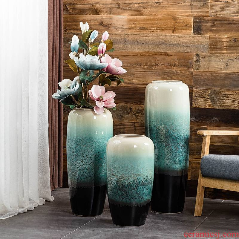 Jingdezhen ground vase large living room TV cabinet decoration of Chinese style household I and contracted ceramic flower arranging furnishing articles