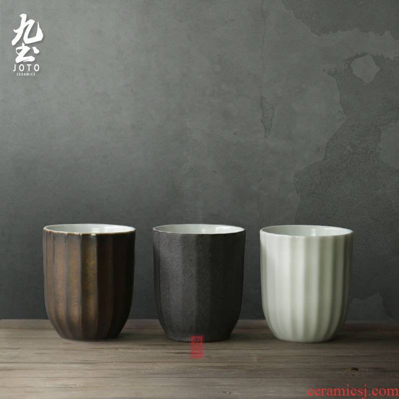 Wining about nine soil surface glass ceramic lovers cup for cup move cup black gold white ceramic cups of tea cups