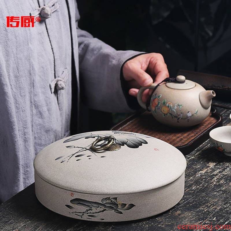 The kitchen puer tea cake tea pot ceramic seal tank storage POTS receive a case a large wake white tea box of household