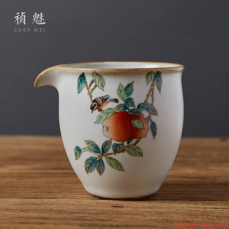 Shot incarnate your up on hand - made jingdezhen ceramic fair keller kung fu tea accessories large tea sea points