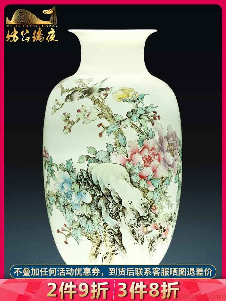 Jingdezhen ceramics hand - made vases, flower arranging is rich winter jasmine sitting room place, a new Chinese style household decorations