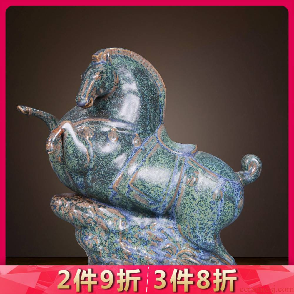Jingdezhen ceramics from manual its, bronze horse furnishing articles home sitting room study office archaized decorations