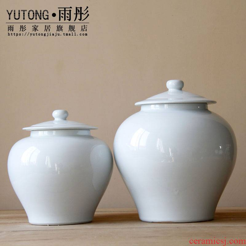 Opens to booking a soft outfit domestic act the role ofing single type of jingdezhen ceramics glaze white contracted and I adornment is placed ceramic pot