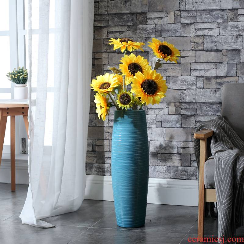 Nordic be born lucky bamboo ceramic vase large sitting room dry flower arrangement home decoration fortune restoring ancient ways is the high place