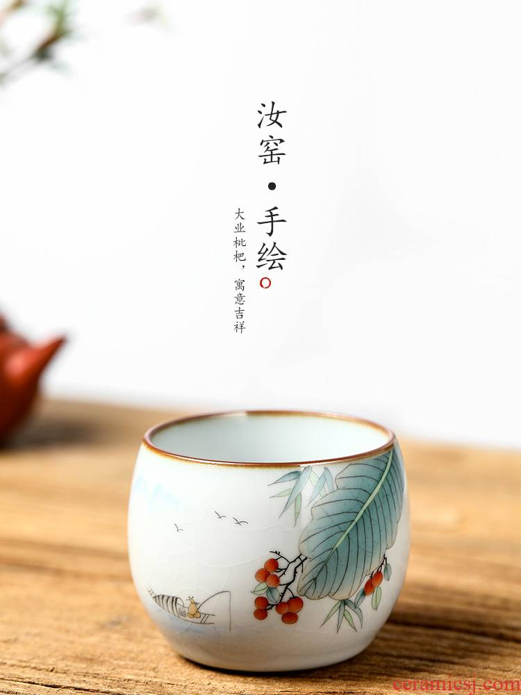 Your up sample tea cup masters cup hand - made pure manual jingdezhen ceramic cups from the single CPU large tea man