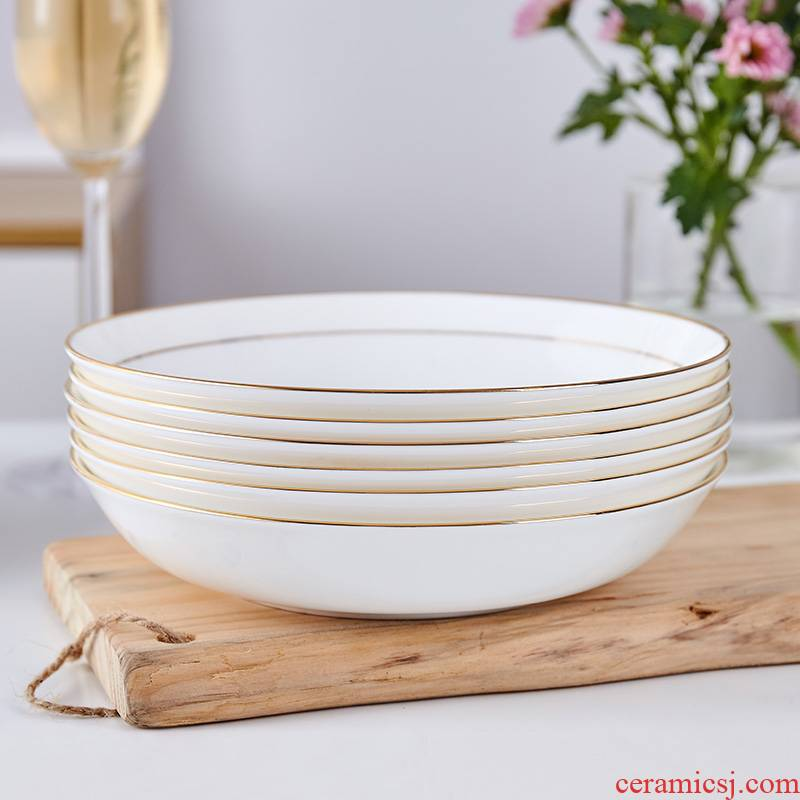 Jingdezhen ceramic tableware European food plate ceramic plate contracted household soup plate FanPan up phnom penh dish deep dish