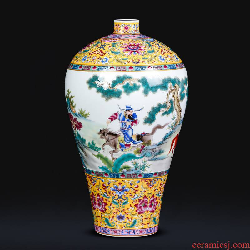 Jingdezhen ceramics vase Xiao Heyue chase Han Xinmei bottle of living room TV cabinet decoration of Chinese style household furnishing articles