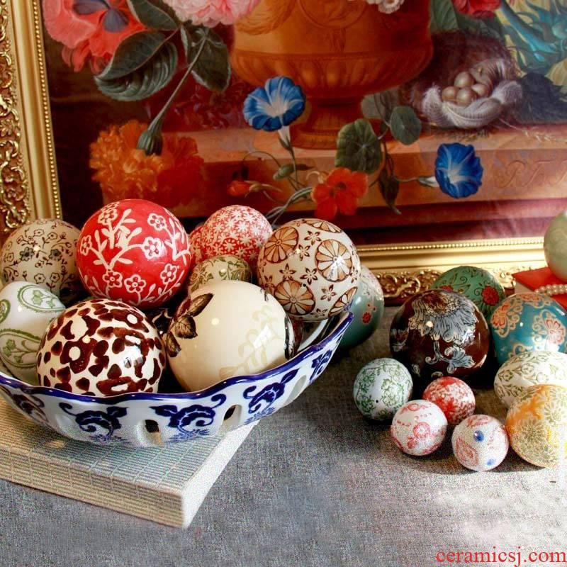 Jingdezhen ceramic decorative furnishing articles furnishing articles float rainbow ceramic decoration