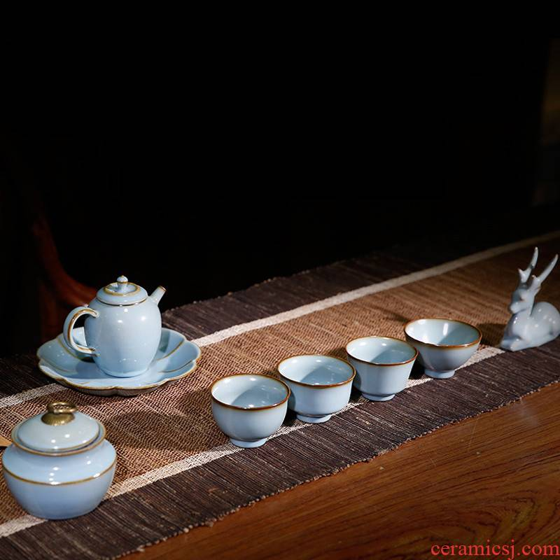 . Poly real boutique scene. Your up kung fu tea set of jingdezhen ceramic high - ranked imperial concubine pot of tea set gift boxes