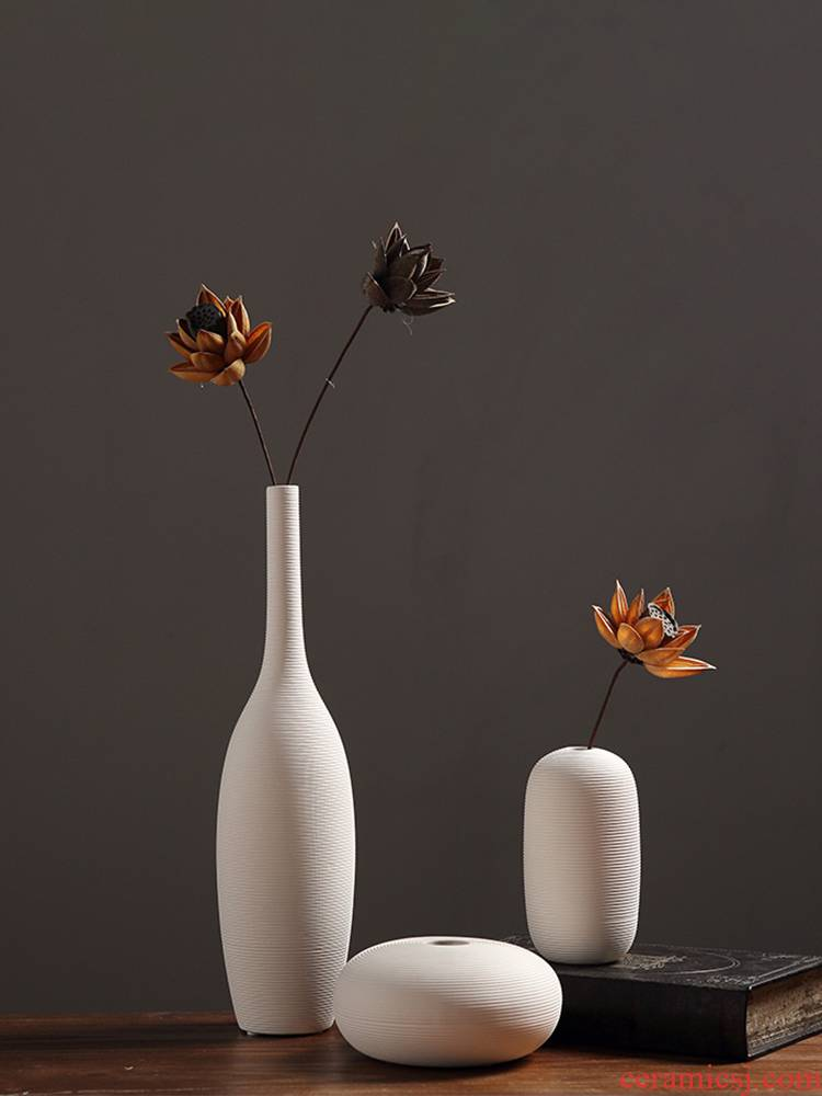 Chinese style is I and contracted decorate jingdezhen ceramics vase Nordic home sitting room porch dried flower arranging flowers is placed