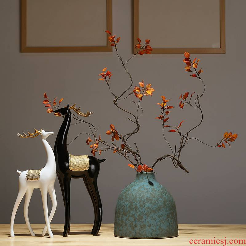 New Chinese style zen furnishing articles vase made handicrafts sitting room porch floret bottle of TV bar face