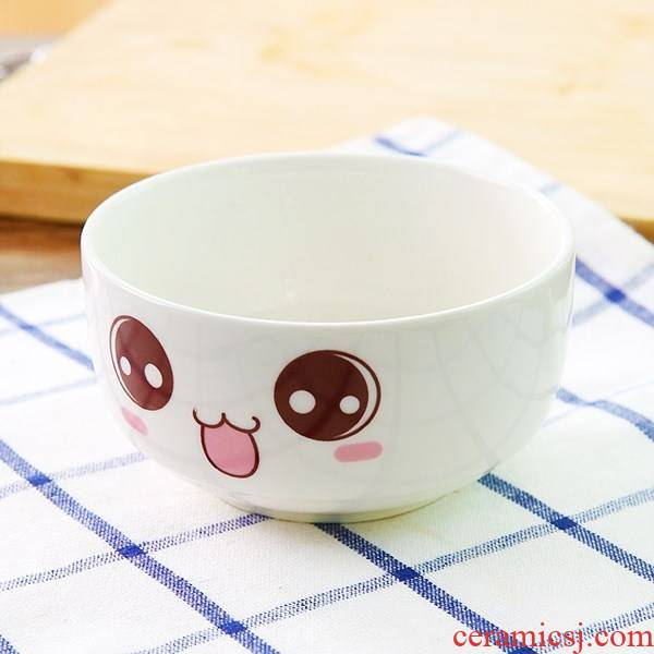 Baby children in kindergarten children to use household express cartoon bowls of soup bowl chopsticks ceramic round nappy for dinner