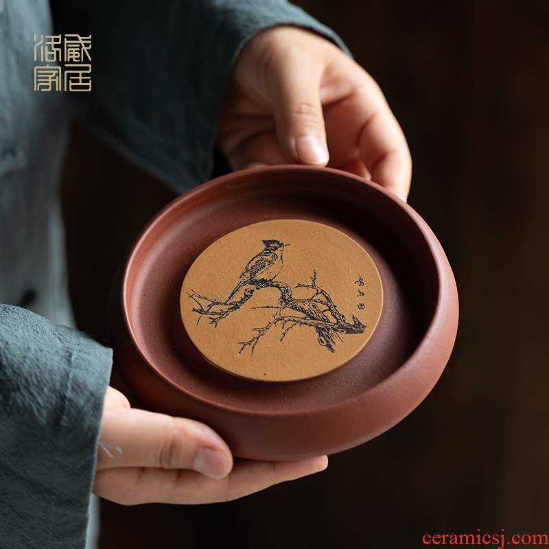 Yixing it bearing Chinese style household kung fu tea tea accessories checking out creative teapots mat base collet