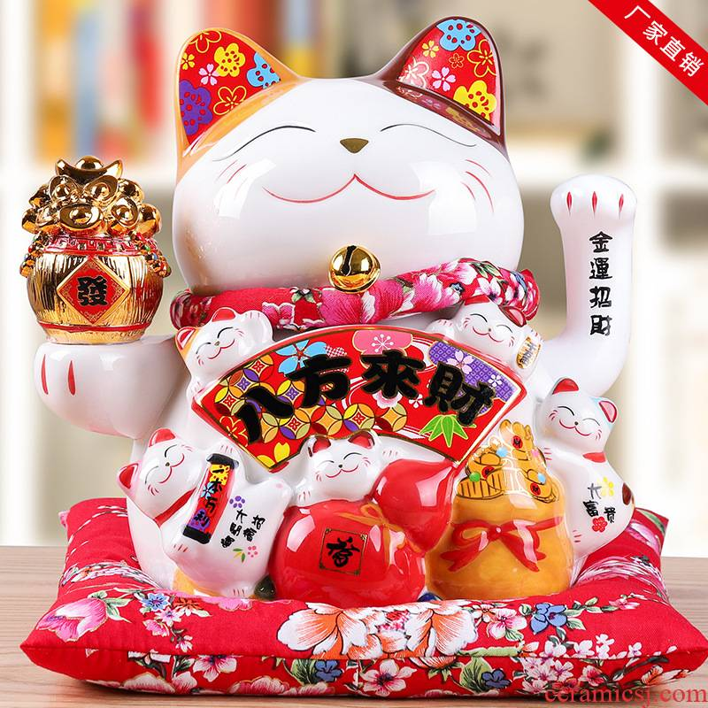 Electric wave large plutus cat size at the checkout counter furnishing articles store opening ceramic creative gift decoration
