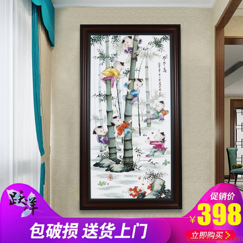 Single ceramic painter hand - made scenery jingdezhen porcelain plate in the sitting room hangs a picture background wall adornment office