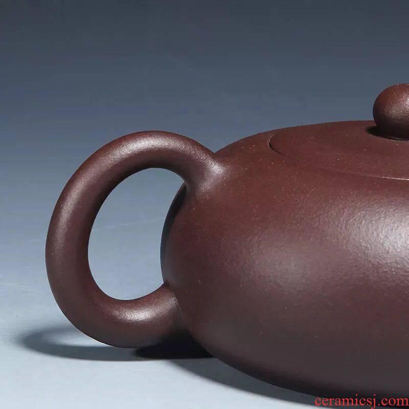 The kitchen yixing it pure manual kung fu tea pot home outfit purple mud flat xi shi tea set 240 c