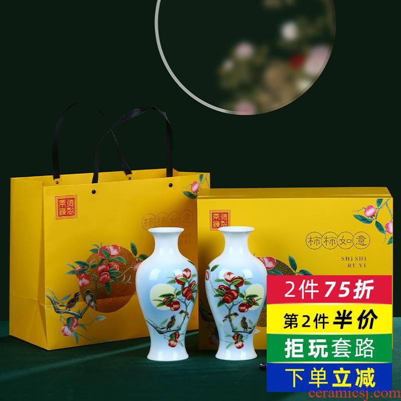 Jingdezhen porcelain ceramic creative hardcover floret bottle vase home porch ark adornment furnishing articles sitting room