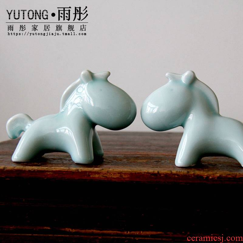 Jingdezhen ceramics creative horse zodiac vivid ceramic pony horse furnishing articles ceramics handicraft