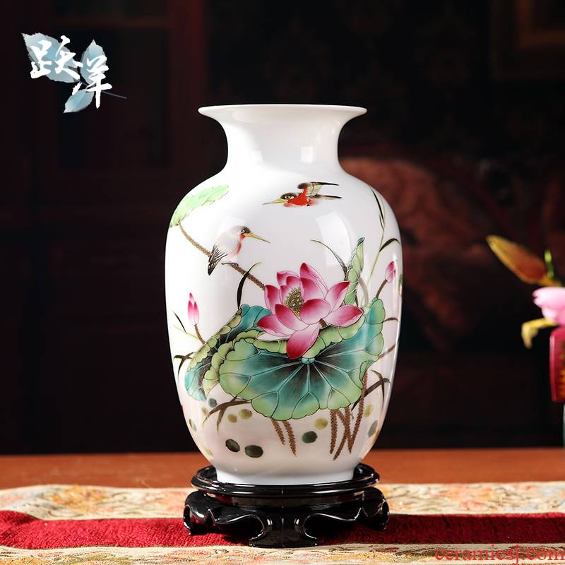 Rich ancient frame small place wine vases, I and contracted home sitting room adornment of jingdezhen ceramics handicraft