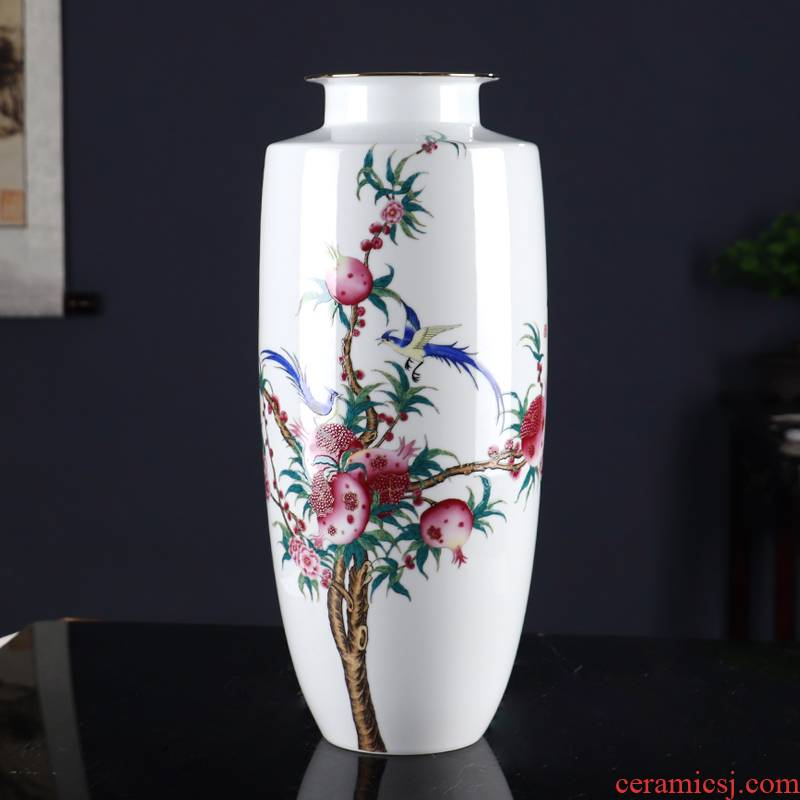 Riches and honour laughs a vase of jingdezhen ceramics Chinese style living room office paint crafts ornament
