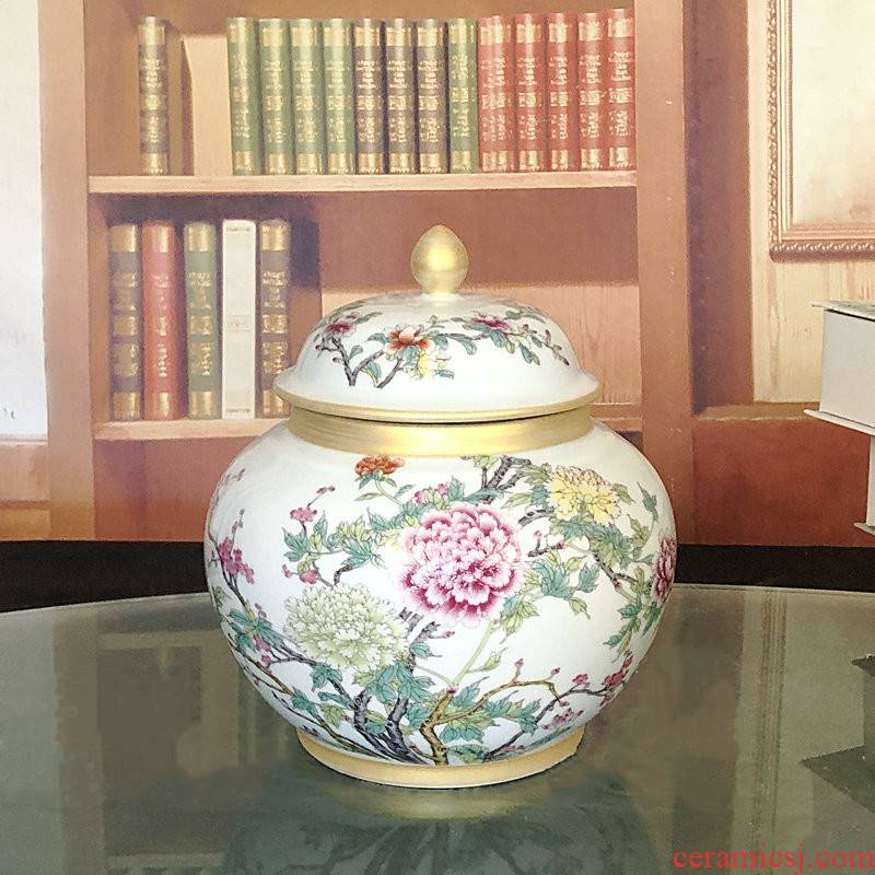 Thousands of flame jingdezhen ceramics tea pot store content ark, can make Chinese vase decoration archaize general pot peony