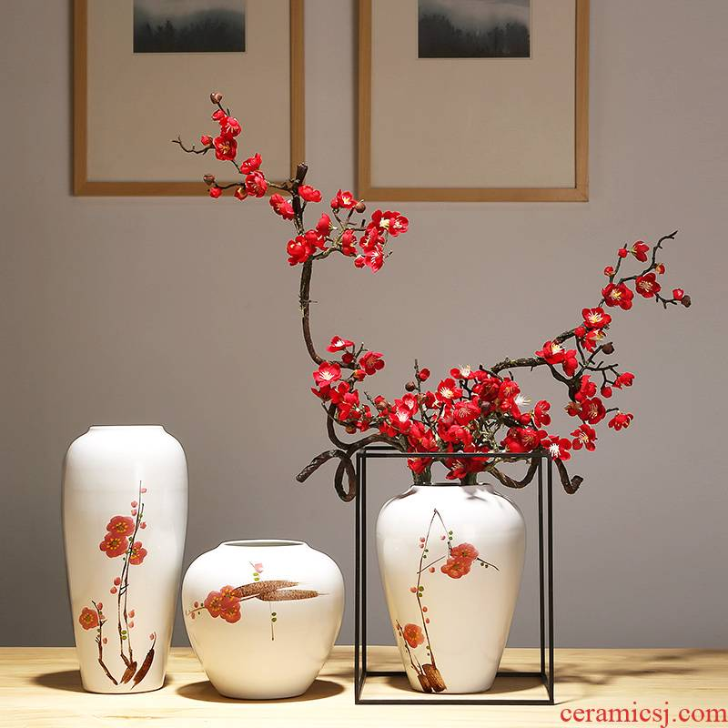 The New Chinese jingdezhen ceramic vase handicrafts suit I and contracted mesa vase sitting room porch vase