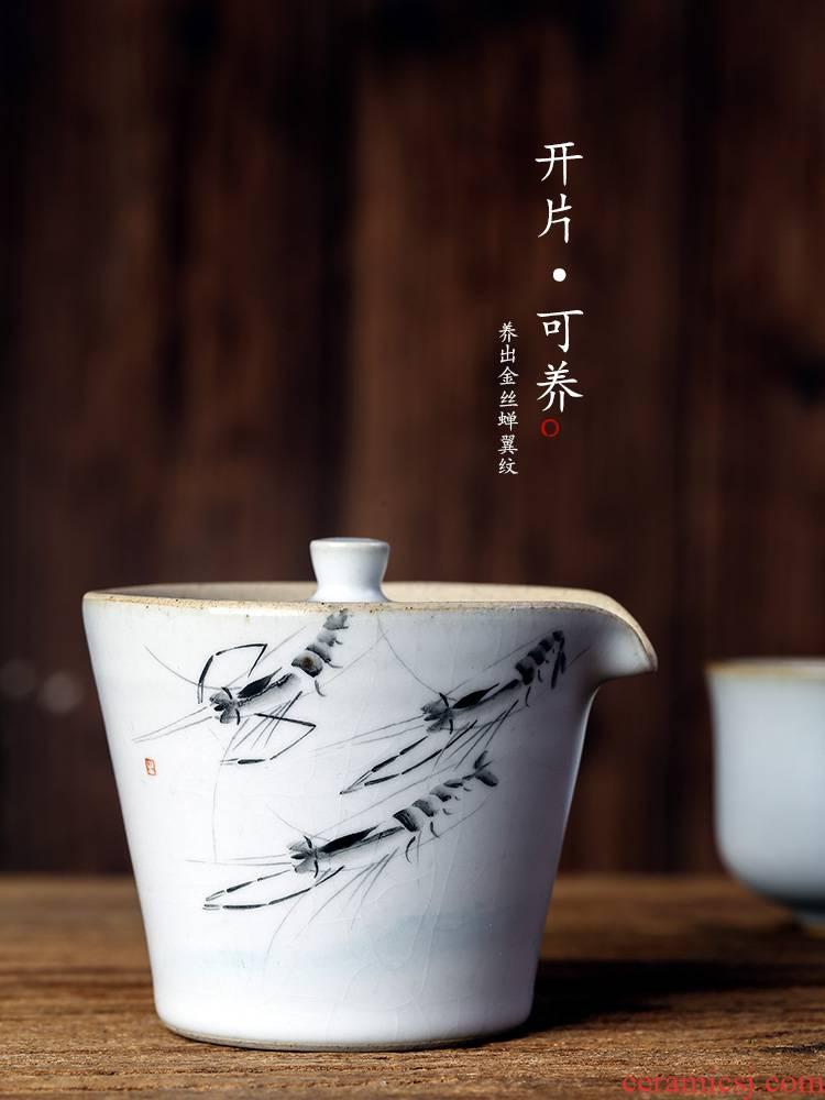 Jingdezhen teapot single your up hand grasp pot of hand - made of shrimp kunfu tea hot tureen tea cups not large