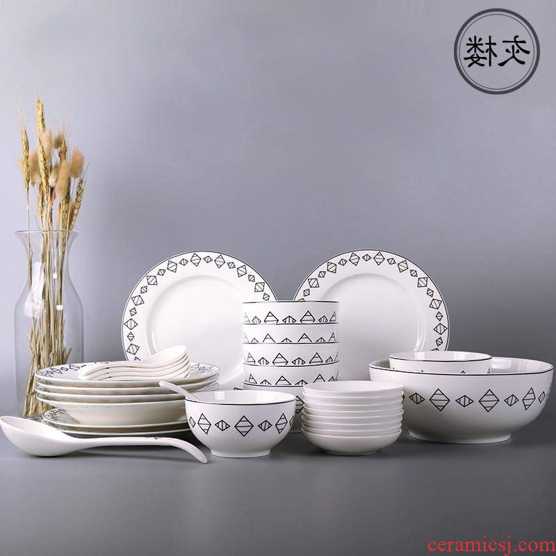 The creative gifts tableware kitchen daily - informs The porcelain plate salad dishes son bowl dish dish custom manufacturers
