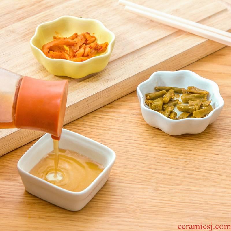 Soy sauce ceramic ice crack plate plate plate ipads vinegar dish creative snacks cutlery Japanese - style dish dish taste glaze dab of plate