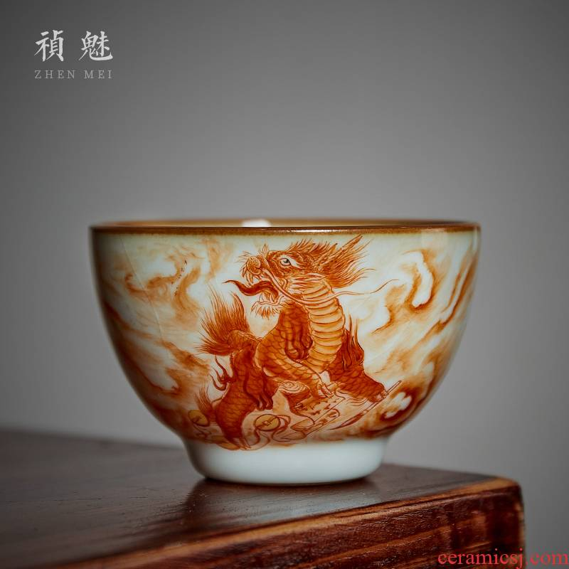 Shot incarnate your up hand - made kirin master kung fu tea set personal tea cups of jingdezhen ceramics slicing can be a single CPU