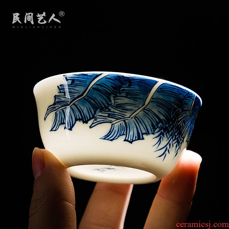 Jingdezhen porcelain sample tea cup hand - made ceramic kung fu masters cup tea tea set, tea cup