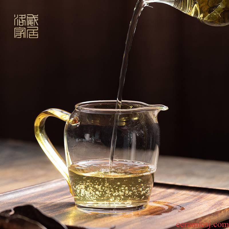 Reasonable glass cup upset jingdezhen kung fu tea set fittings high - grade high borosilicate tea machine side and a cup of tea