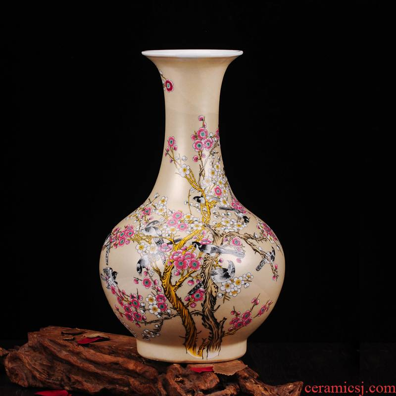 Jingdezhen ceramics vase furnishing articles name plum modern home sitting room home office decoration arts and crafts gifts