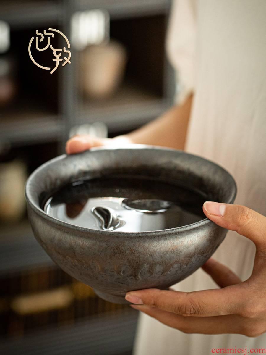 Hot drinks to gold dou household washing Japanese zen washing cups writing brush washer tea large coarse TaoJian water jar