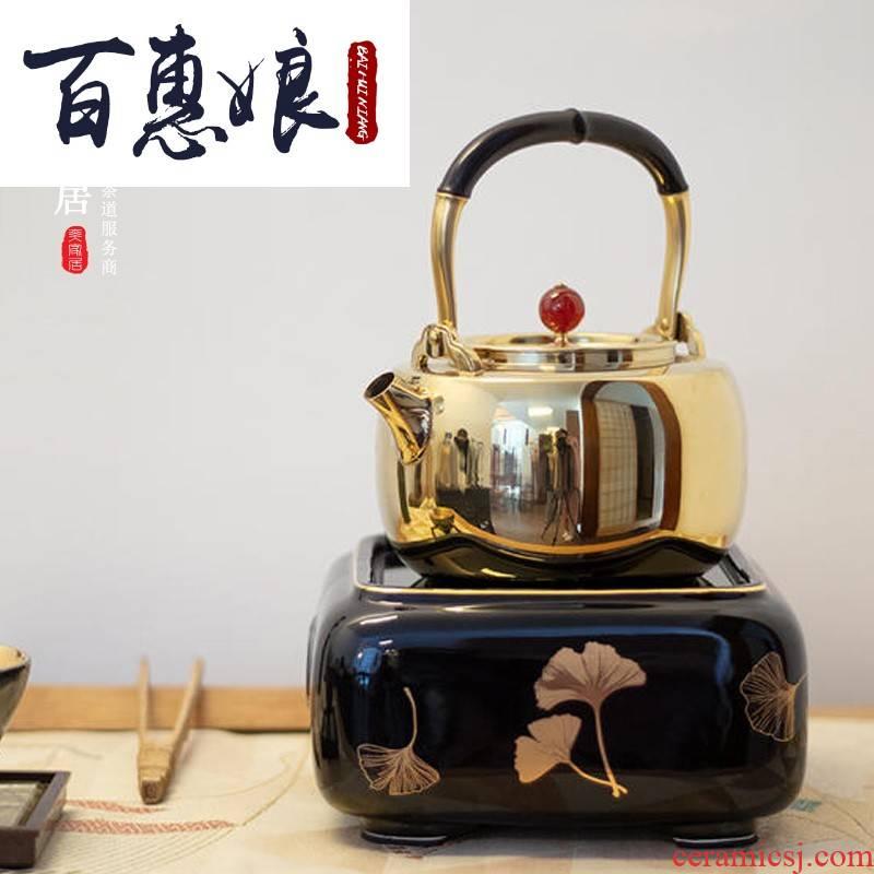 (maiden in electric TaoLu household cooking silver pot of tea tea tea stove desktop small iron pot of boiled tea machine electricity
