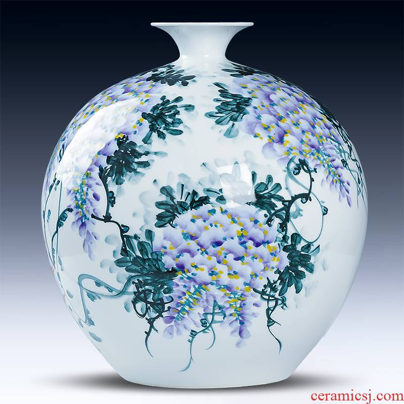 Under the jingdezhen ceramics glaze color manual hand - made sabingga sukdun dergici jimbi pomegranate porcelain vase sitting room adornment is placed
