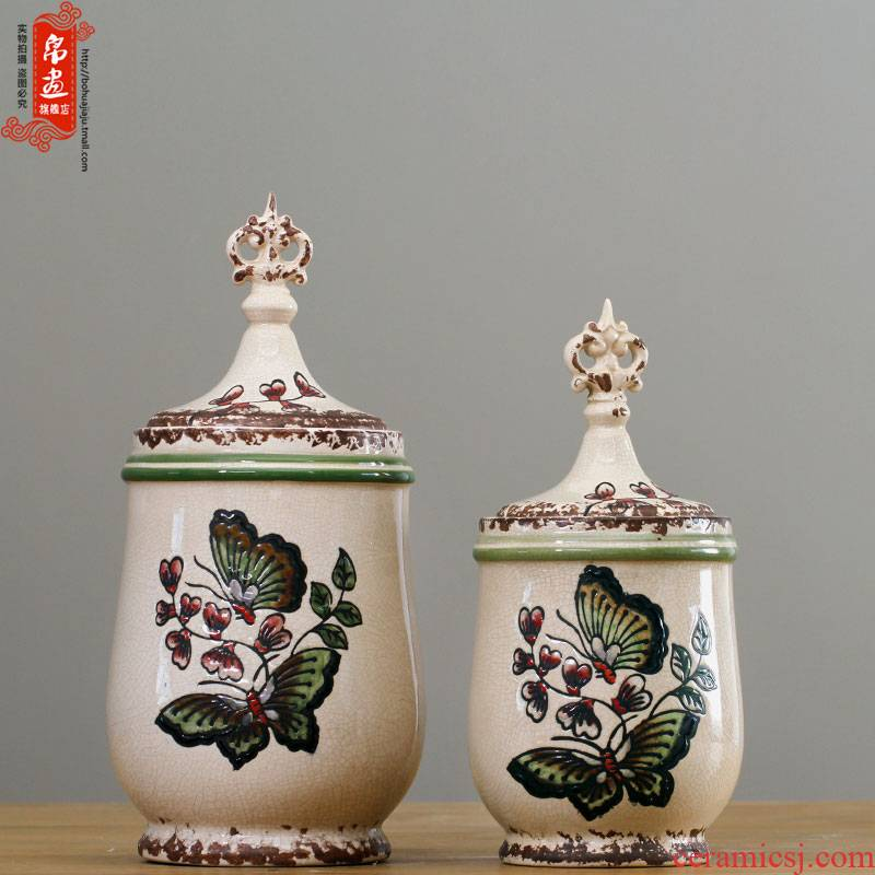 Jingdezhen vases, flower arrangement sitting room place new classical household retro creative adornment can of porcelain decoration