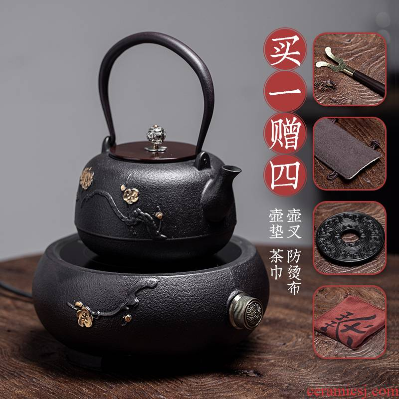 Iron pot of special cast Iron tea kettle TaoLu boiled tea machine manual imitation Japan Iron kettle boiling kettle suits for