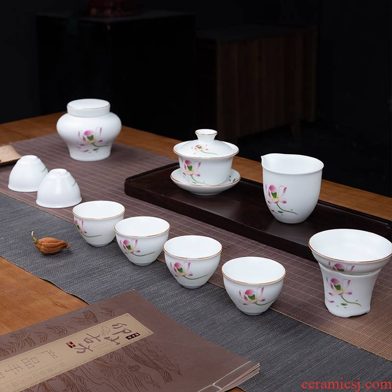 Touch the floor clearance 】 【 kung fu tea set household jingdezhen whole teapot tea cup and a cup of tea pot