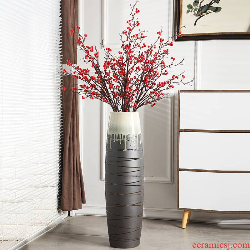Gagarin ground vase large - sized ceramic household adornment furnishing articles sitting room of I and contracted Europe type suit flower arrangement