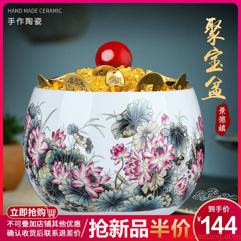 Jingdezhen ceramics colored enamel cornucopia creative home feng shui porch is decorated living room desktop furnishing articles