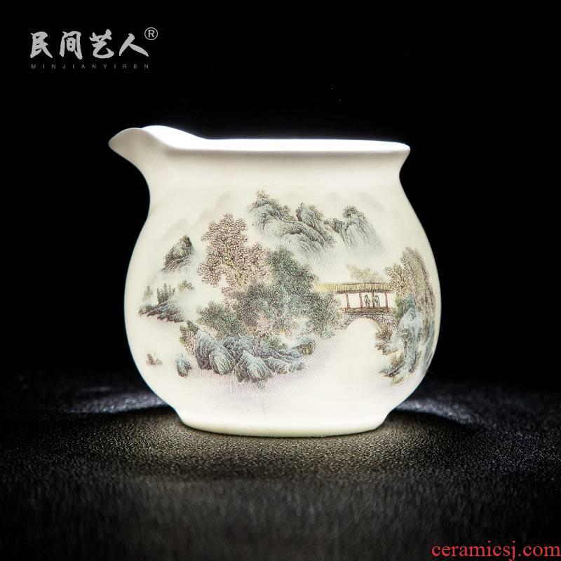 Jingdezhen ceramic glaze color mountains on fair keller kung fu tea tea tea accessories and glass points