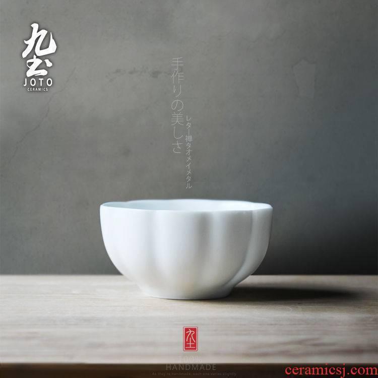 About Nine soil jingdezhen hand fat white edge sample tea cup small glass ceramic tea set Japanese kung fu tea cups water