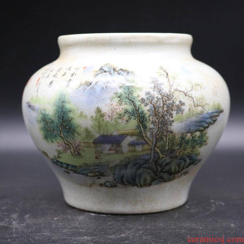 The Qing qianlong pastel landscape as cans sitting room place porcelain antique antique ceramics adorned the collection