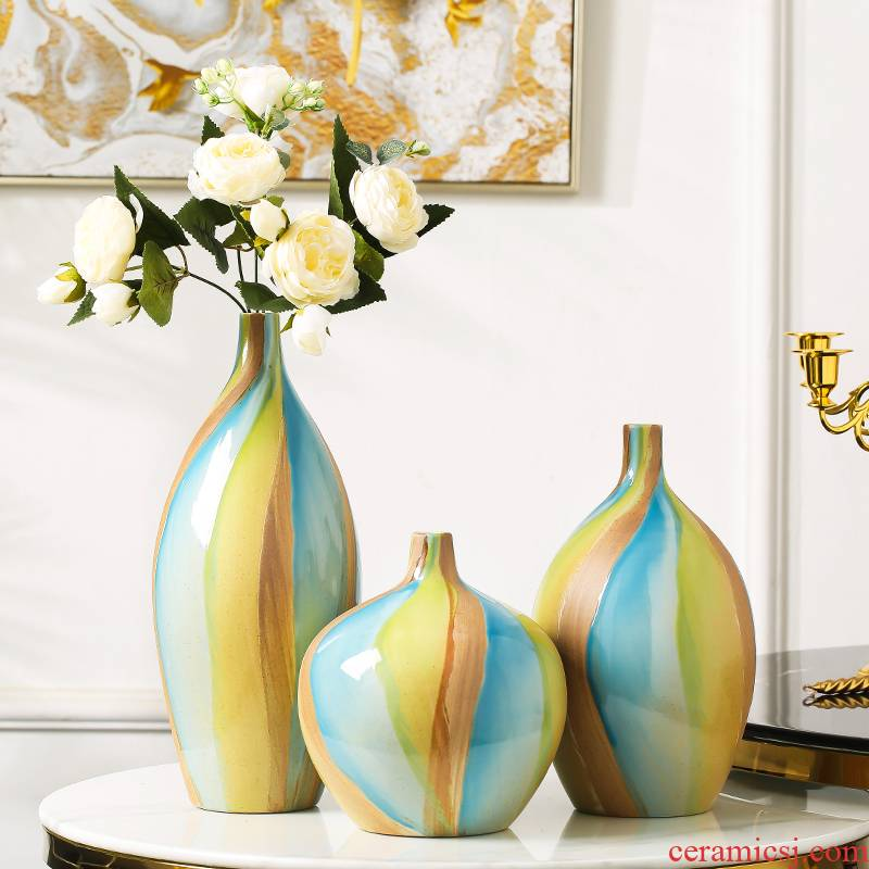 Ceramic vase furnishing articles household act the role ofing is tasted creative living room table flower arranging dried flower adornment TV ark, porch decoration